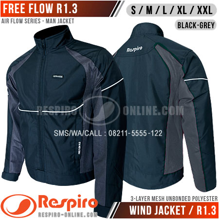 Jaket-Respiro-FREE-FLOW-Black-Grey