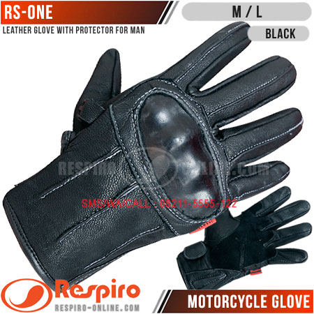 Sarung-Tangan-Kulit-Respiro-RS-ONE-Black